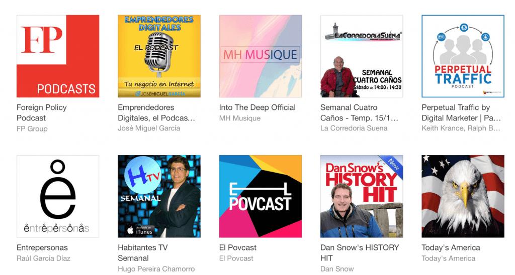 Podcast destacados en iTunes