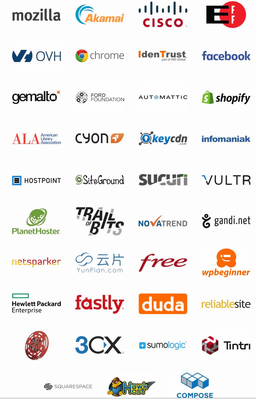 Patrocinadores de Let´s Encrypt